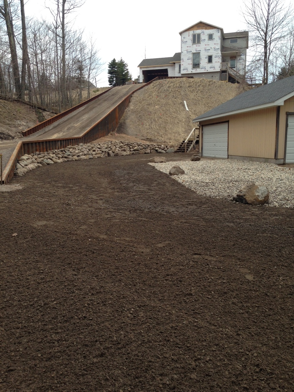 Steel Retaining Wall/New Driveway/Bank Stabilization/Rock Placement, photo 2