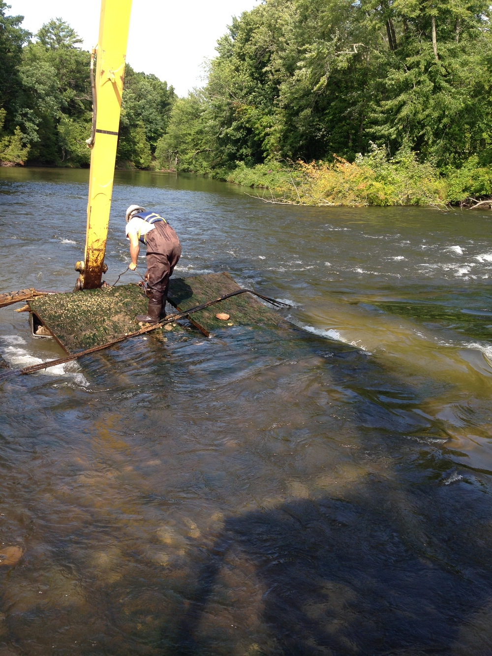 Custer Barrier Free Fish Access Project: removing barrier