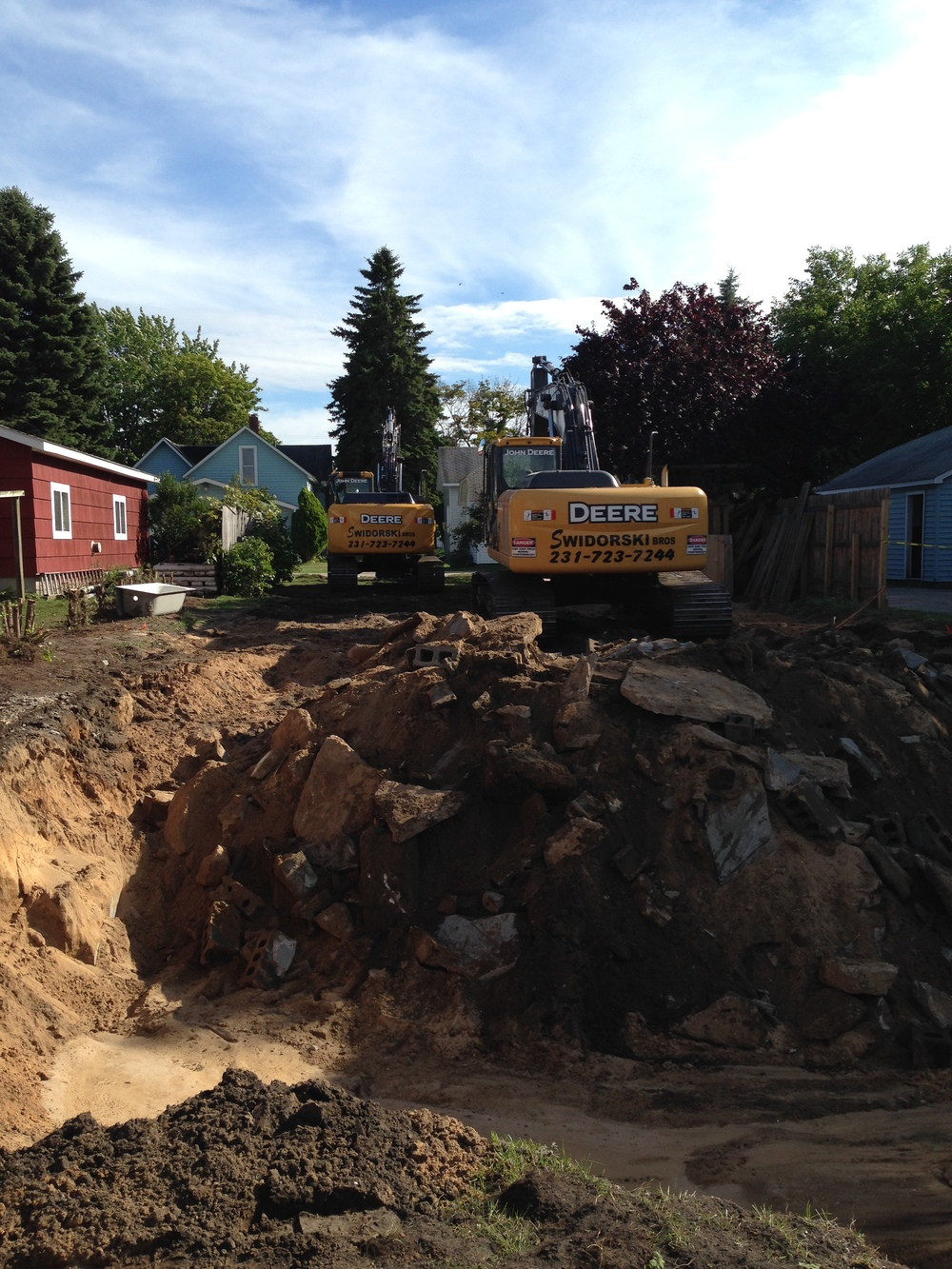 House Demolition on Magill Street, Manistee