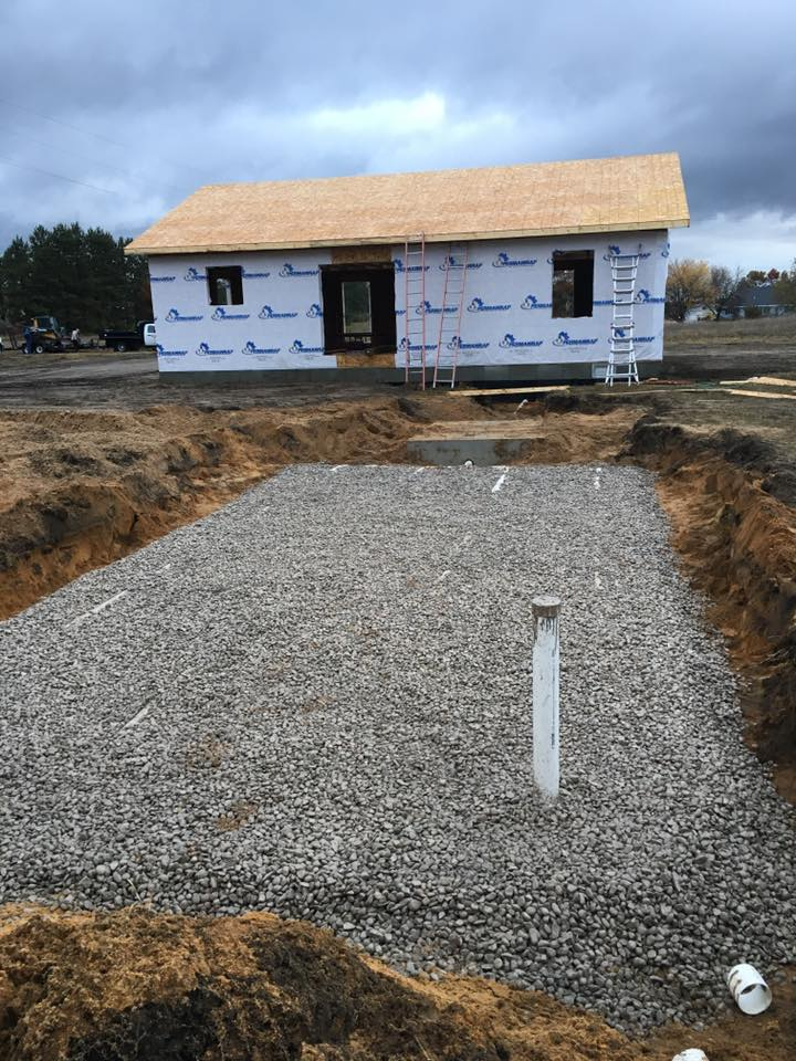 New home septic drain field