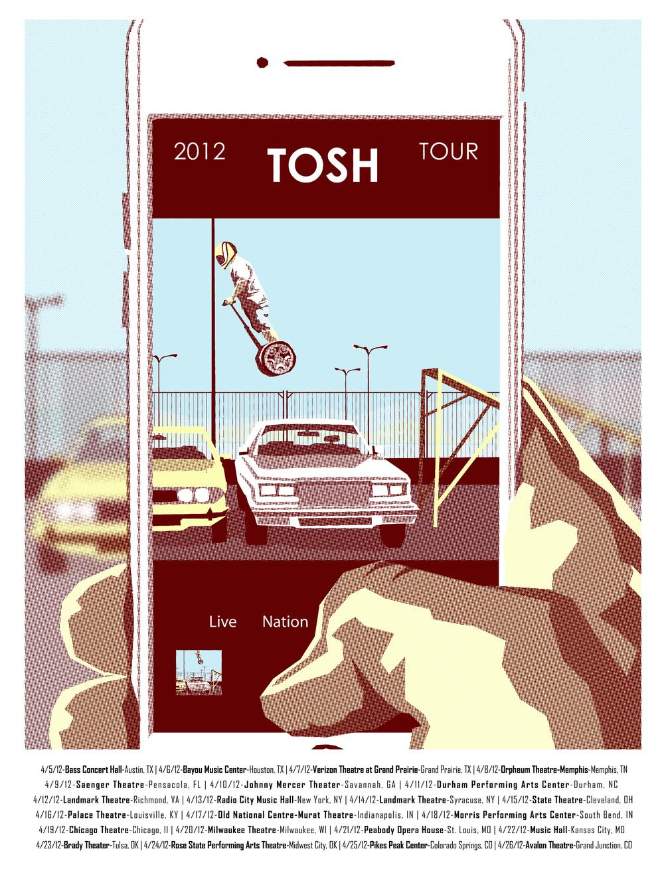 Tosh Tour Poster