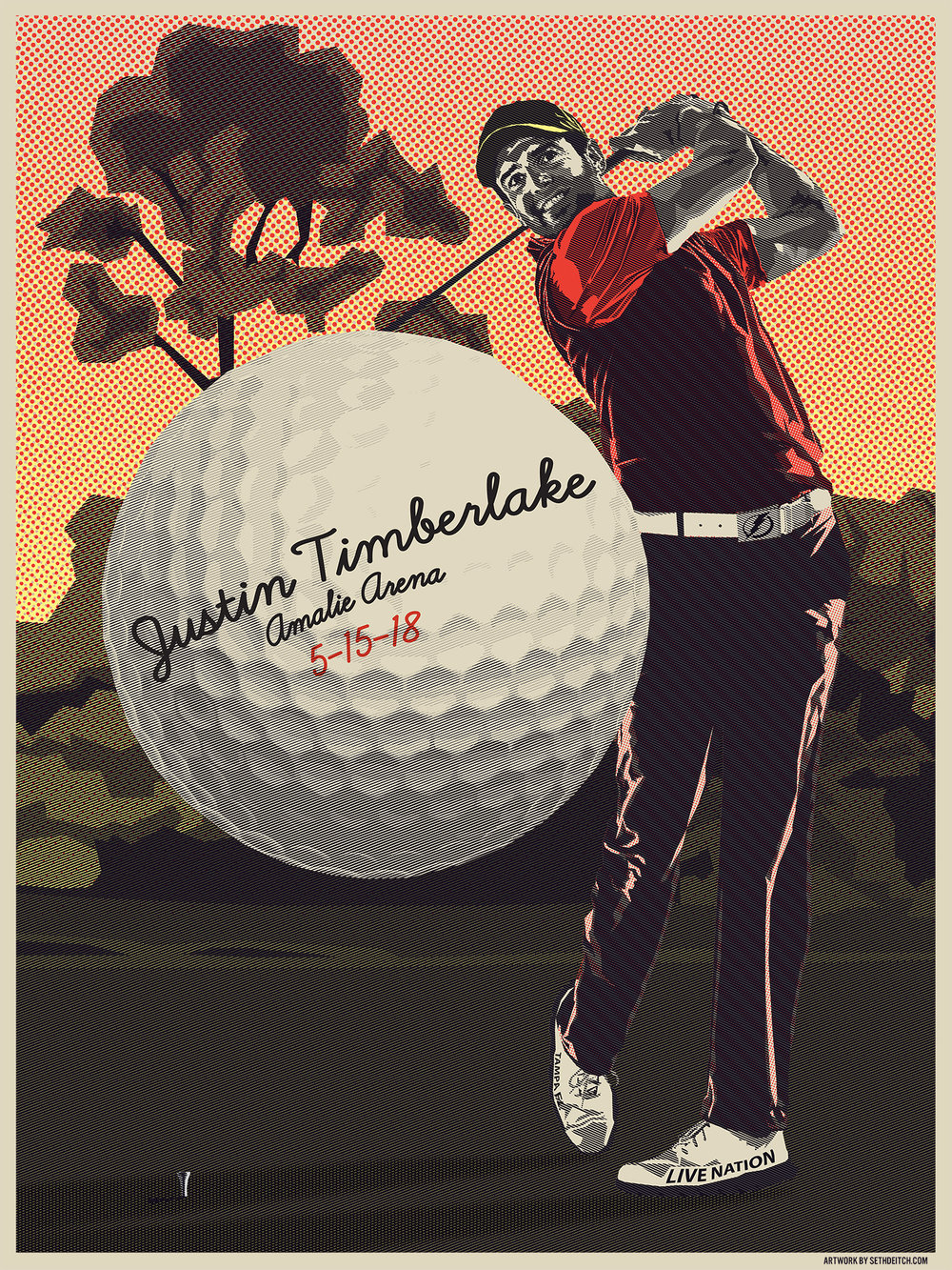 Justin Timberlake - 3 Color Screen Print - Edition of 40