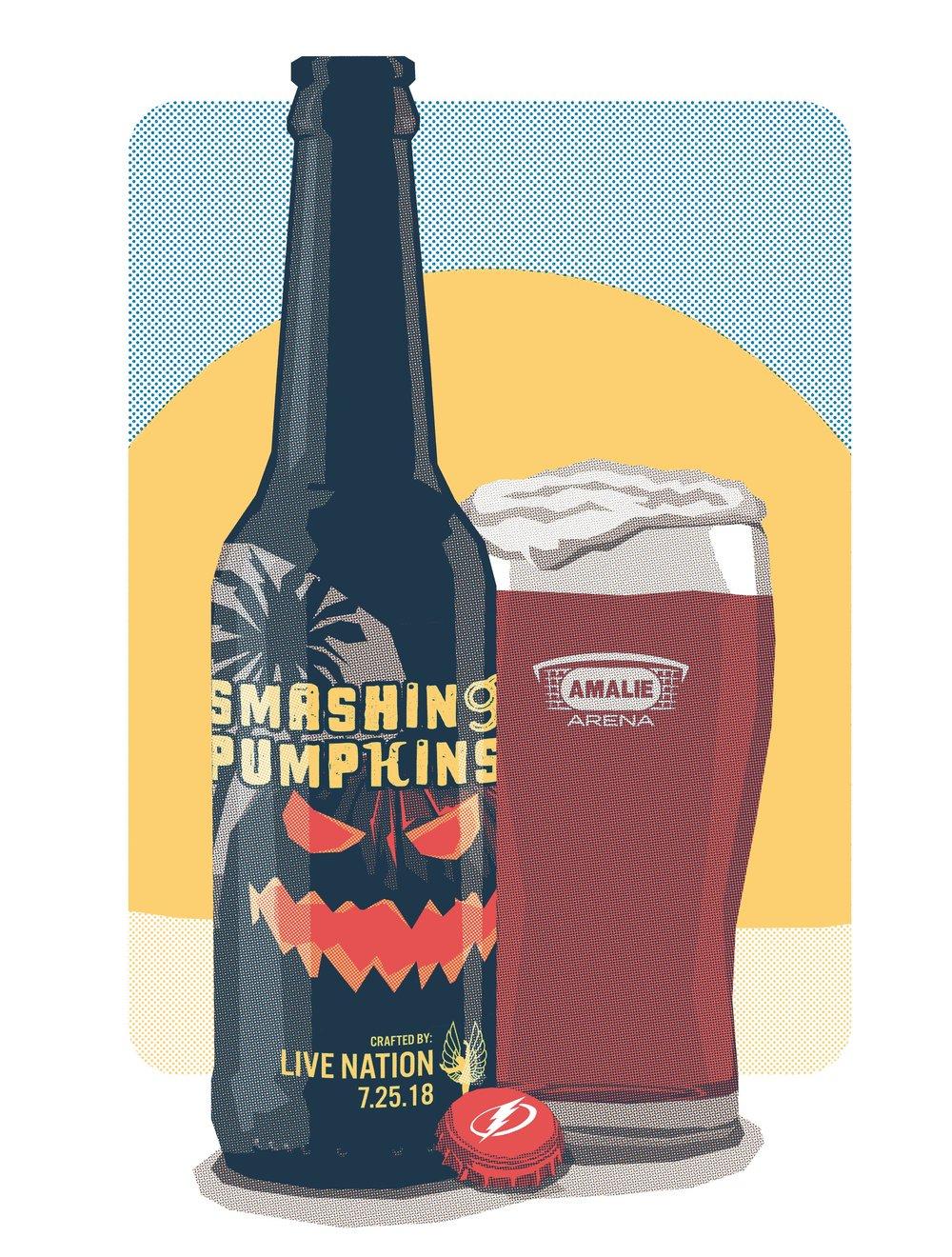Smashing Pumpkins - 3 Color Screen Print