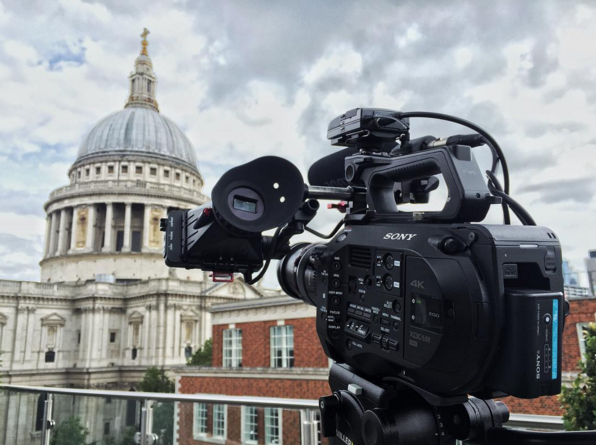 Filming at St Paul's in London with the FS7.