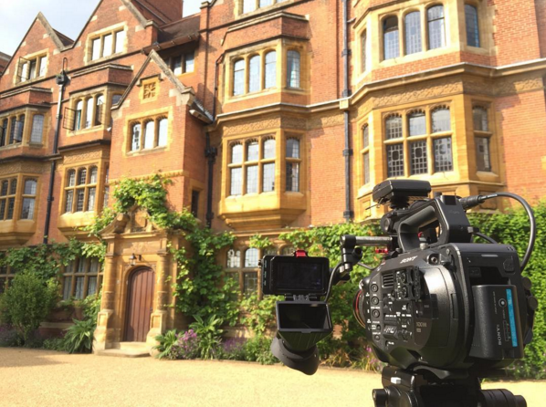 Filming at Trinity Hall in Cambridge with the FS7