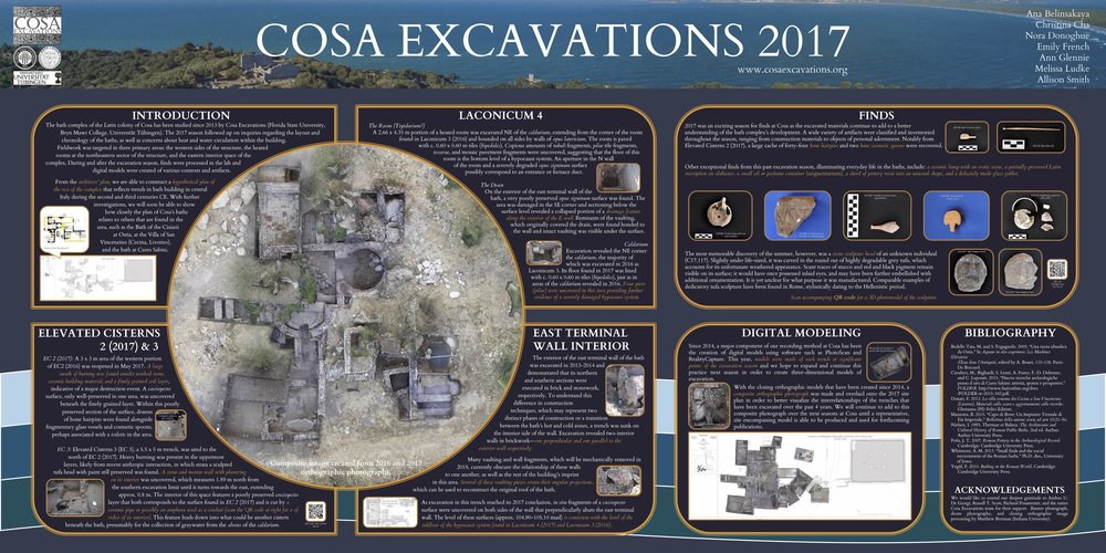 "Poster presented at the 2018 AIA and SCS Joint Meeting  - ""Cosa Excavations 2017"""