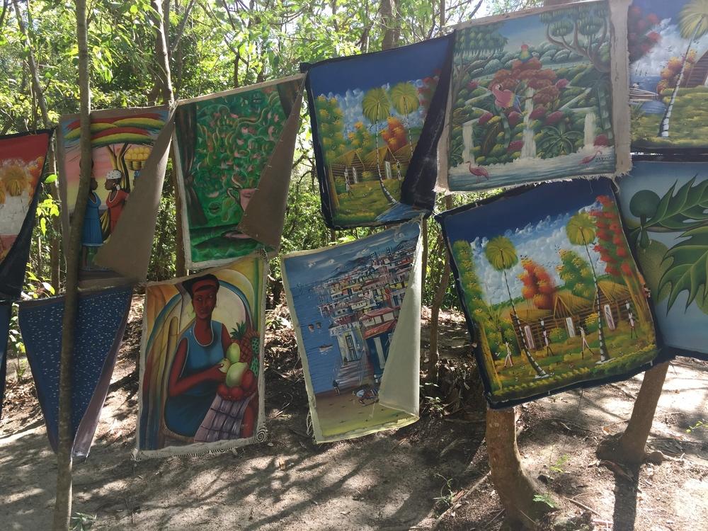 THE lovely haitian art work.