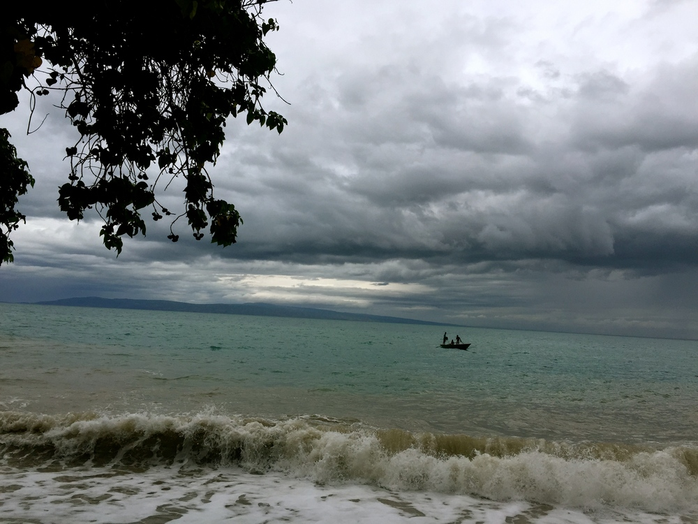 our last night in haiti, watching the rain roll in.