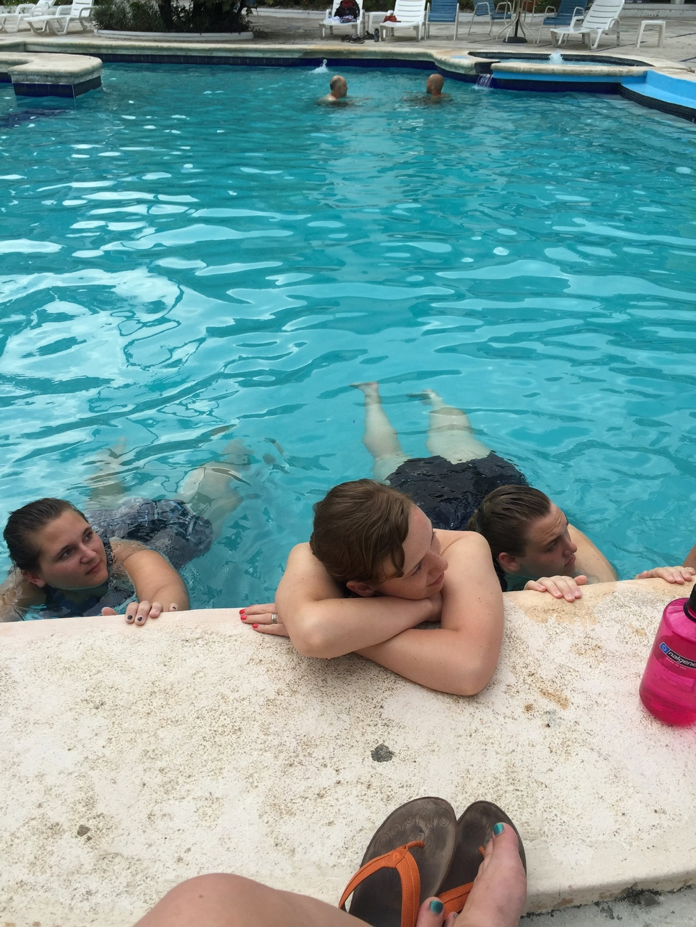 and we ended our day by the pool relaxing for the weekend. End of ministry for the week. Sad it's over but happy it happened. Thanks for reading!