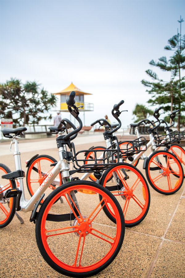 The world's first and largest dockless bikeshare service Mobike launches on the Gold Coast
