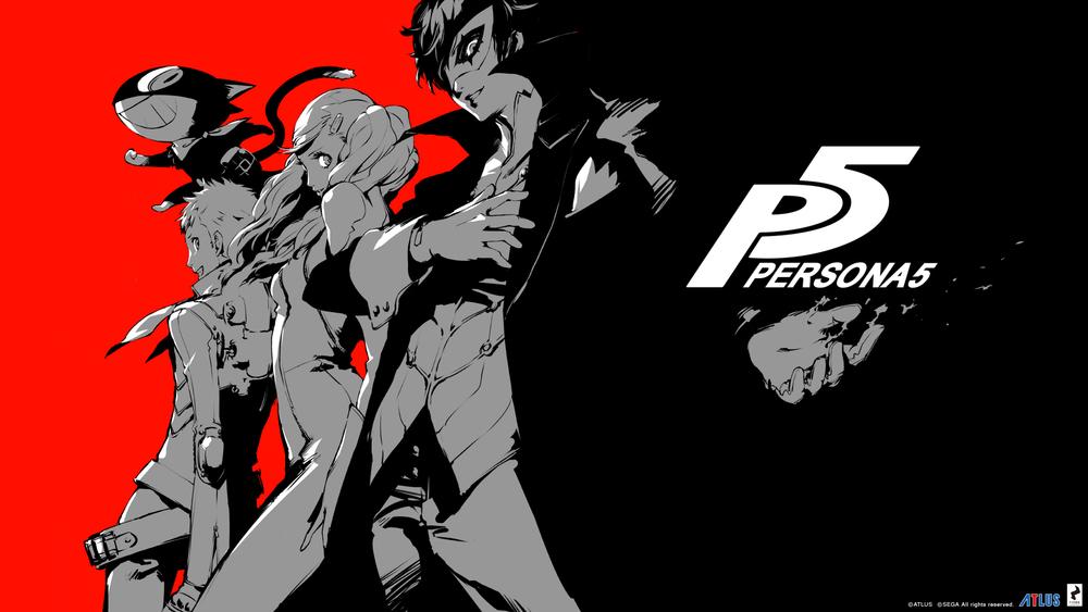 New  Persona 5 illustration by Shigenori Soejima at 2015 Tokyo Game Show.