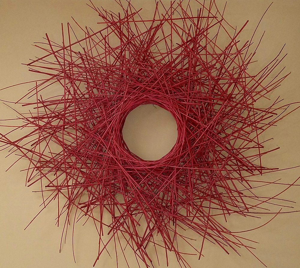 Media: Wood and Wire Dimensions: 5' x 1' x 5'