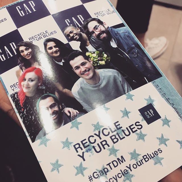 Awesome artists @gapmiddleeast #recycleyourblues event yesterday .. It was a pleasure meeting everyone. We'll be posting everyone's work soon 😍 #ترقبوا #khoshevent #yay4charity #startrecycling