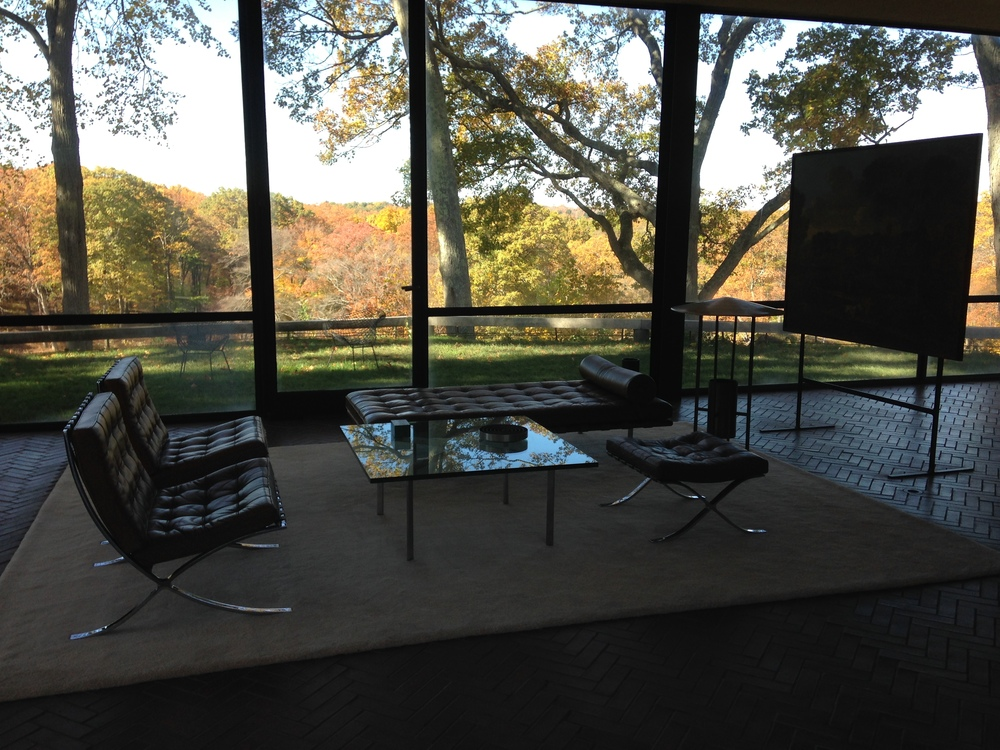 Interior Of The Glass House With Mies Van Der Rohe Furniture And Nicolas  Poussinu0027su0026nbsp; The