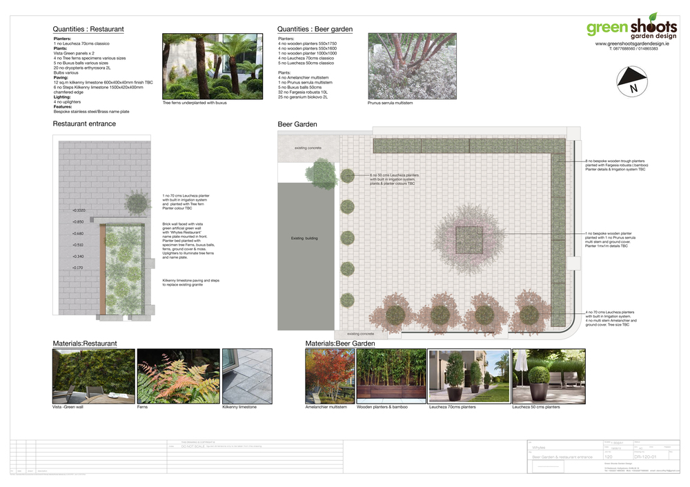 Masterplan for redesign of outdoor area for pub and restaurant