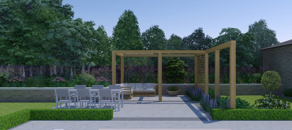 Contemporary Garden - 3D Design