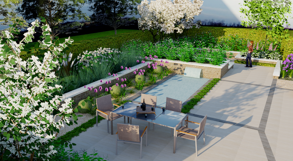 Contemporary Country Garden - 3D Design