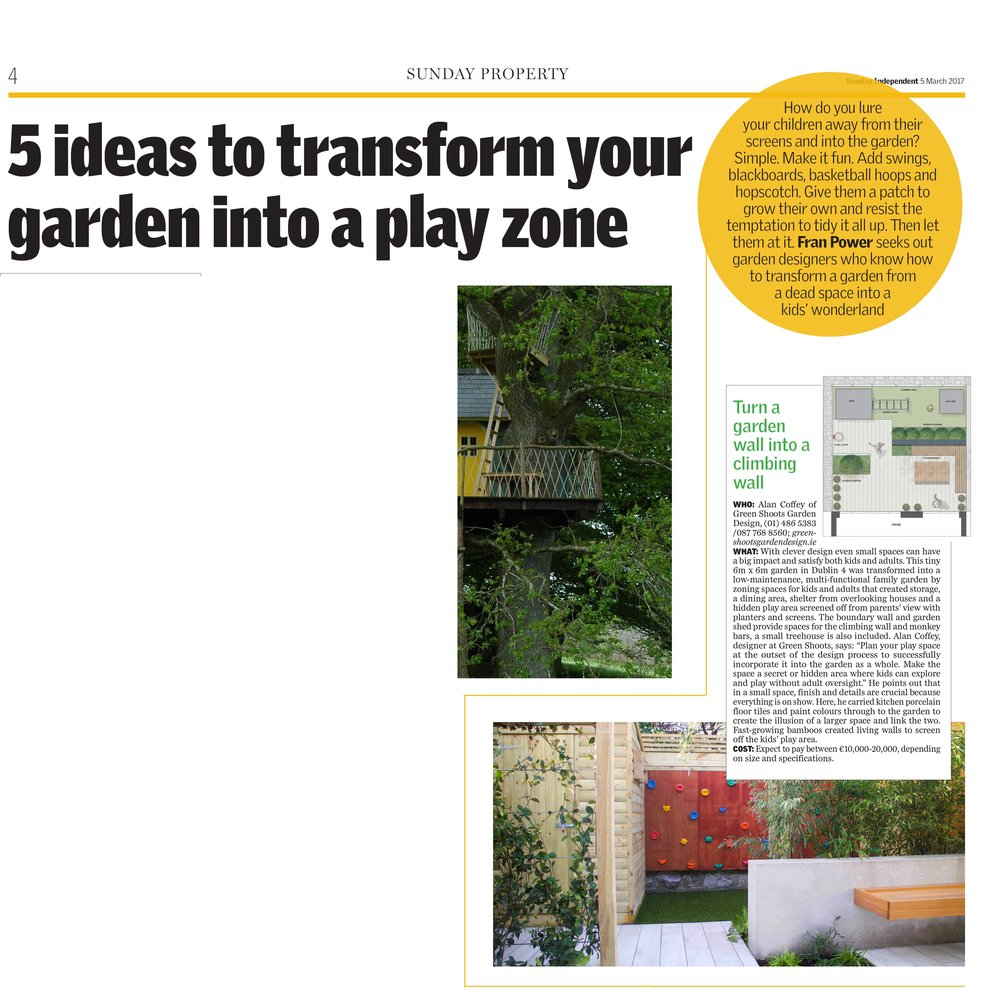 Sunday Independent garden design feature