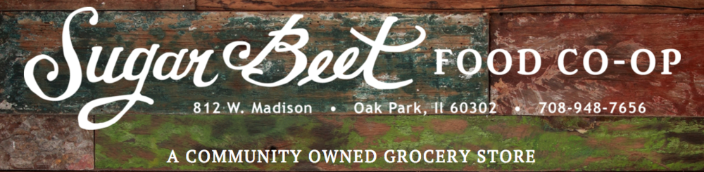 The Sugar Beet Food Co-op is located in Oak Park, IL.