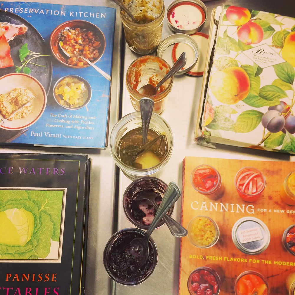 Kim brought a selection of her favorite canning books for reference.