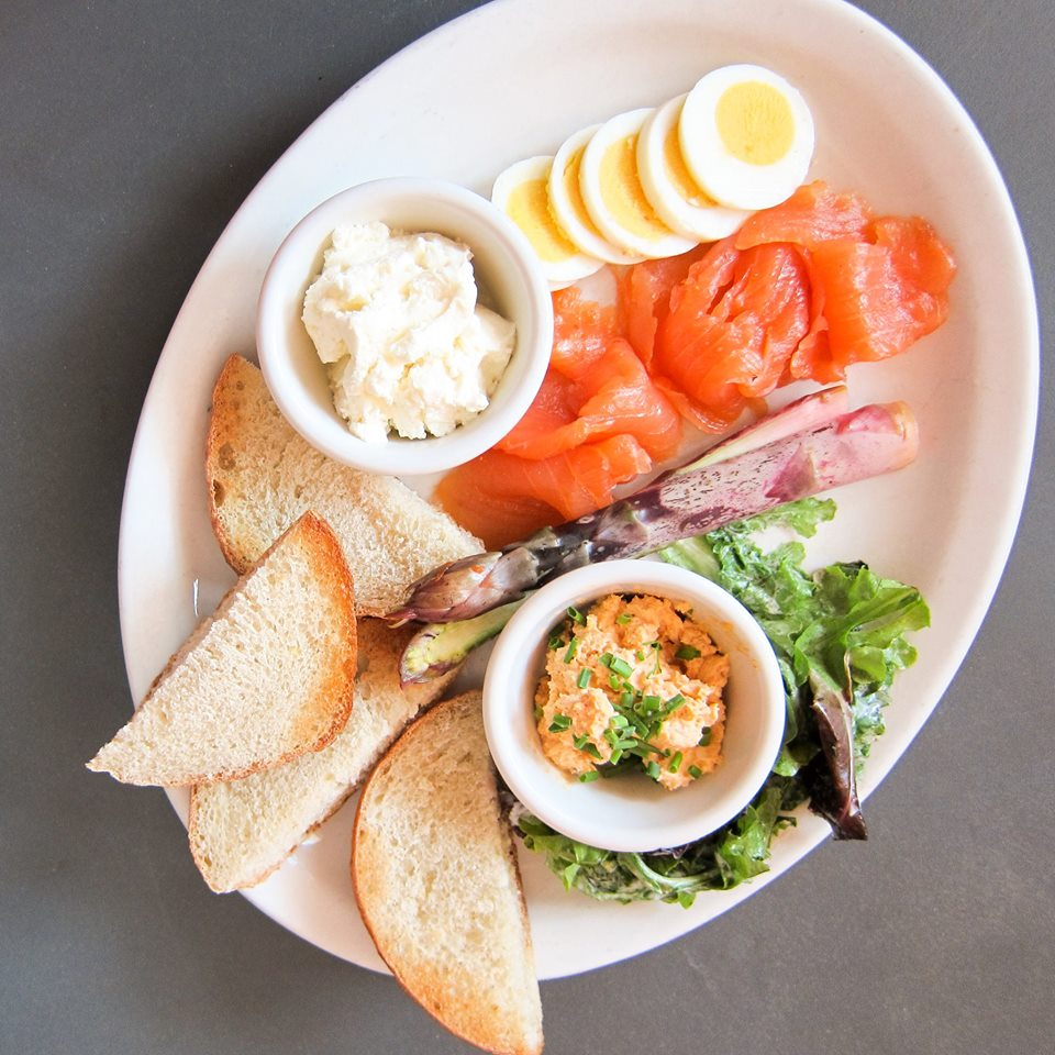 The smoked fish plate available as a brunch option at Southport Grocery & Cafe in Lakeview.