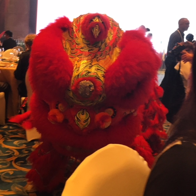 Chinese dragon dance