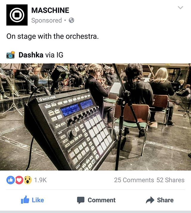 Great to see @nativeinstruments keeping tabs on my gigs over on Facebook! That 📷 was latest gig with The Cork Pops Orchestra in Cork City Hall! 🎶 🔊 🎧  #maschine #nativeinstruments #dj #producer #orchestra #gig #live #music #insta #instagram #instagood #instadaily #Cork #Ireland #work