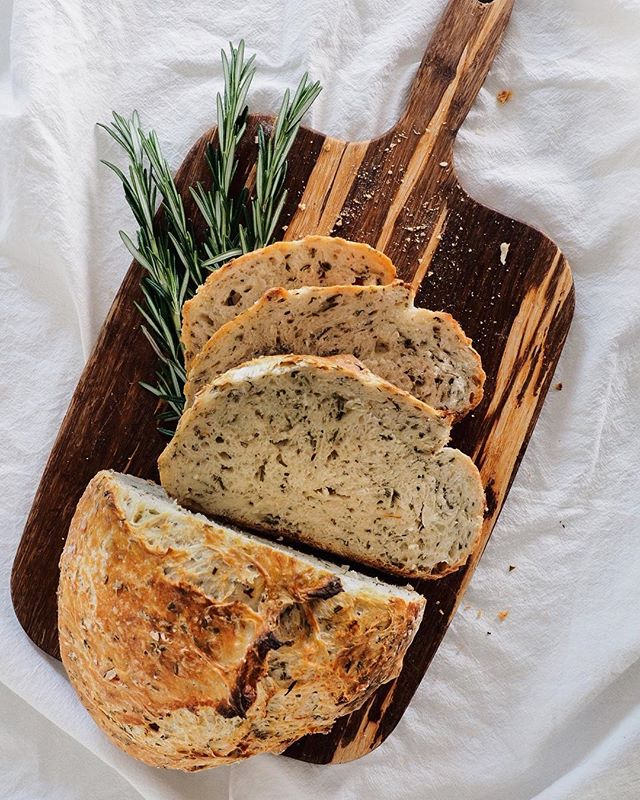 I'm pretty sure rainy mornings were made for eating whole loaves of rosemary Dutch over bread. Right?
