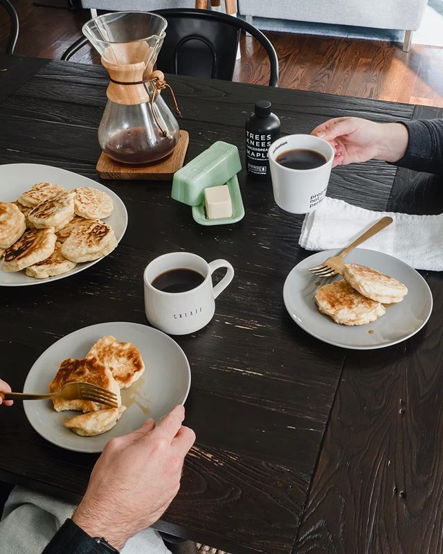 Pancakes and coffee....the perfect snow day essentials. ⛄️