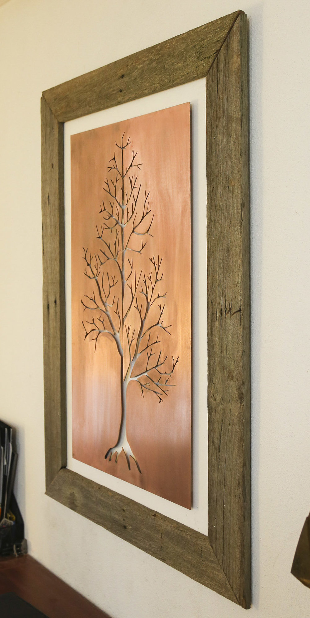 Inner Tree - Copper Cut & local Red Hill fence paling timber