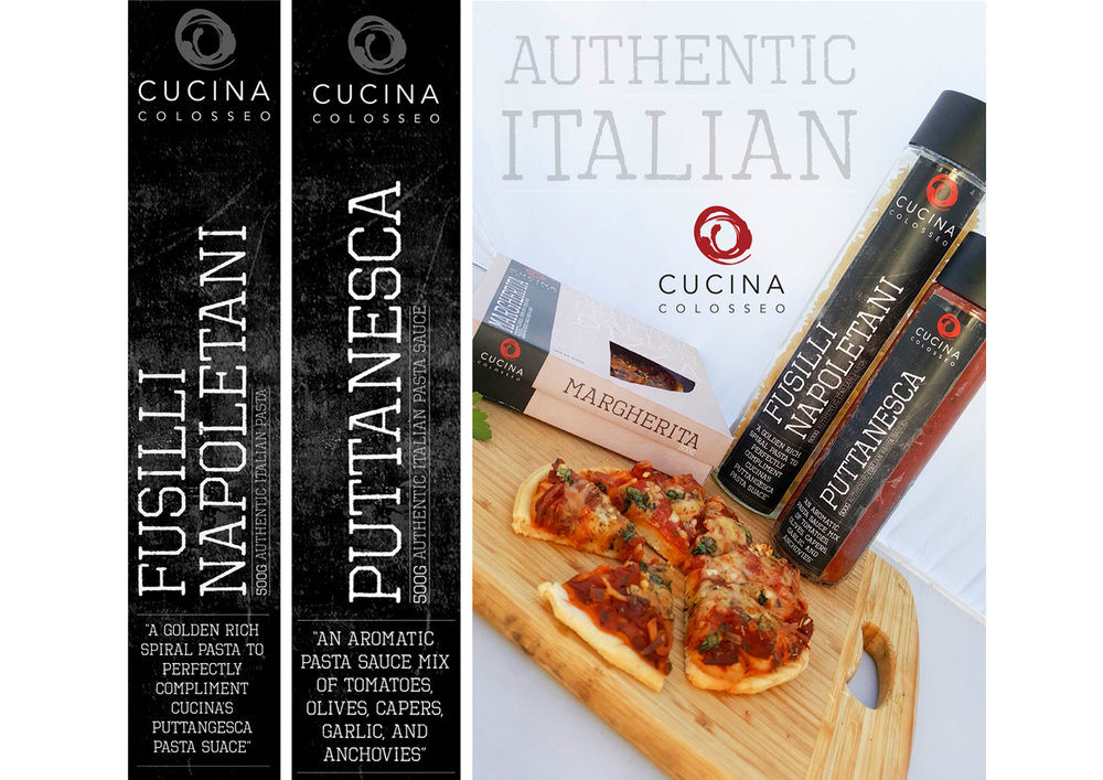 Pizza & Pasta packaging