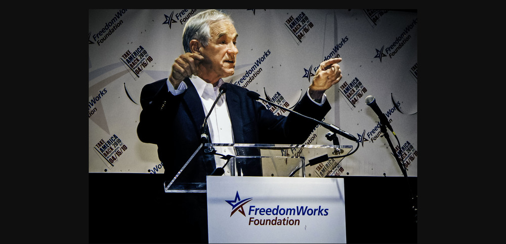 Ron Paul speaking at Reason Rally