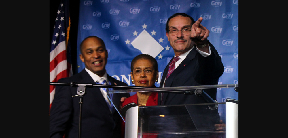 Election night in Washington, DC with Mayor Vince Gray, Council Chairman Kwame Brown, DC Congresswoman Eleanor Holmes Norton