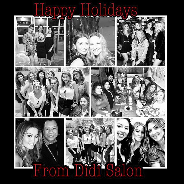 Happy Holidays from the Didi Salon family! See you in the New Years! #didisalon #2018 #happyholidays #happynewyear