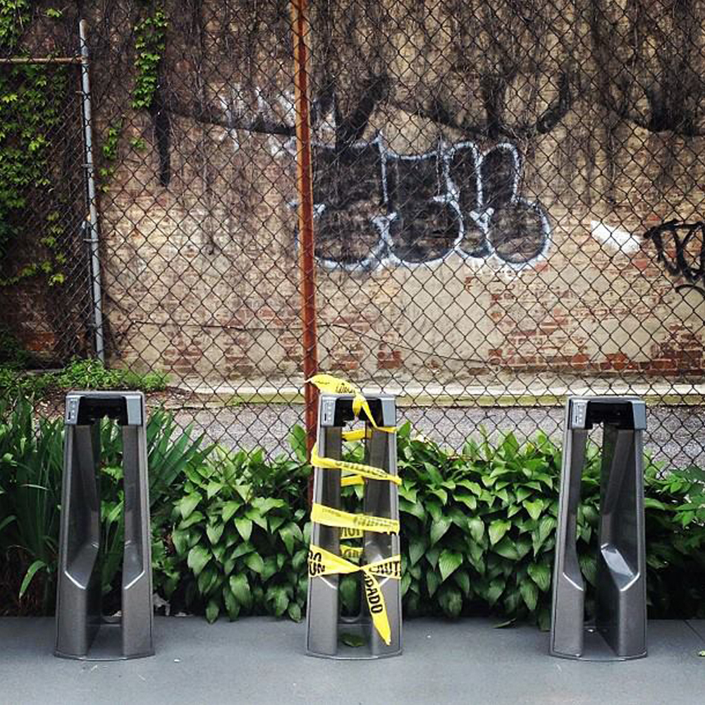 Yellow tape  Brooklyn NY 2014