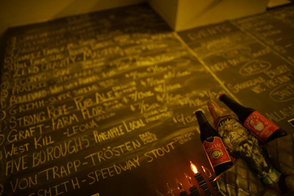 beer list chalkboard
