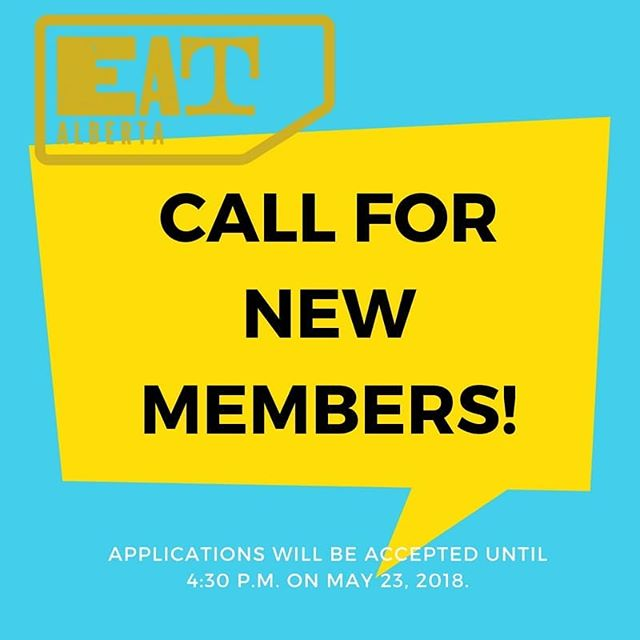 To help us plan Eat Alberta 2019 and execute some smaller events, we need a couple of food-loving and energetic volunteers to join the Eat Alberta board. ⠀ So if you're passionate about Alberta food and championing the producers behind local ingredients, we'd love to hear from you, especially if you have experience in the following areas:⠀ ⠀ - Securing sponsorships⠀ - Website/social media⠀ ⠀ All you need to do to apply is send us an email at team@eatalberta.ca. ⠀ In your email, let us know why you want to join the Eat Alberta board and include a short description of your relevant skills and previous volunteer experience. If we feel you could be a fit with our team, we'll get in touch to arrange an interview.⠀ ⠀ Applications will be accepted until 4:30 p.m. on May 23, 2018.⠀ ⠀ Thank you for your interest in Eat Alberta. We look forward to meeting you! 😀⠀ ⠀ #eatalberta #yeg #yegevents #yegfood #exploreedmonton #travelalberta #eatlocal #support #shoplocal