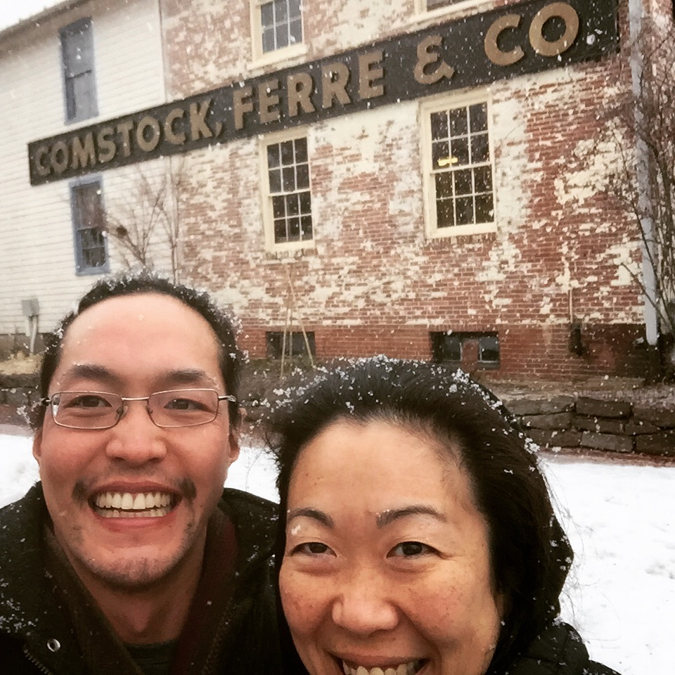 On the first day of spring, it snowed so we went seed shopping at Comstock, Ferre & Co!