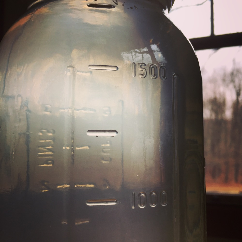 When we were done sugaring for the season, we drank maple water!