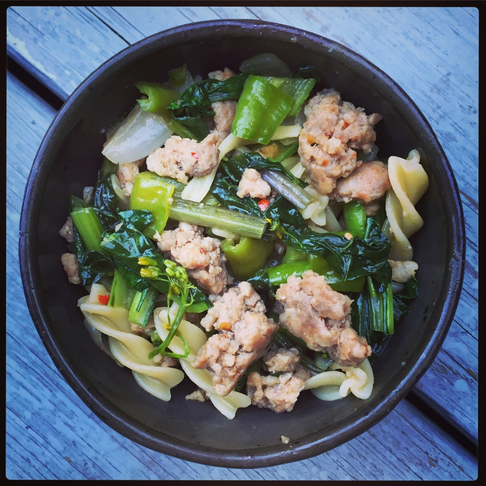 DDF Sausage and Vegetables with Pasta