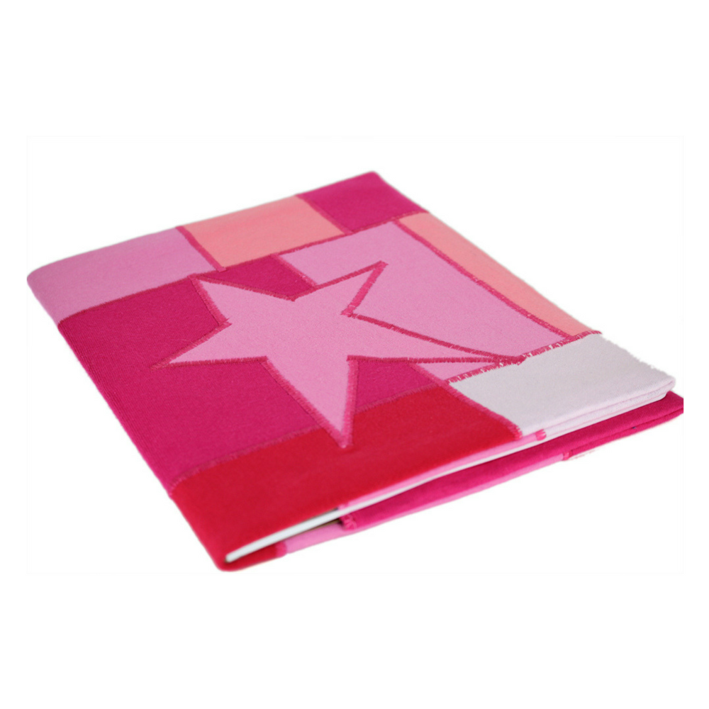 Upcycled Pink Star Journal Notebook Reclaimed Tshirts Kids