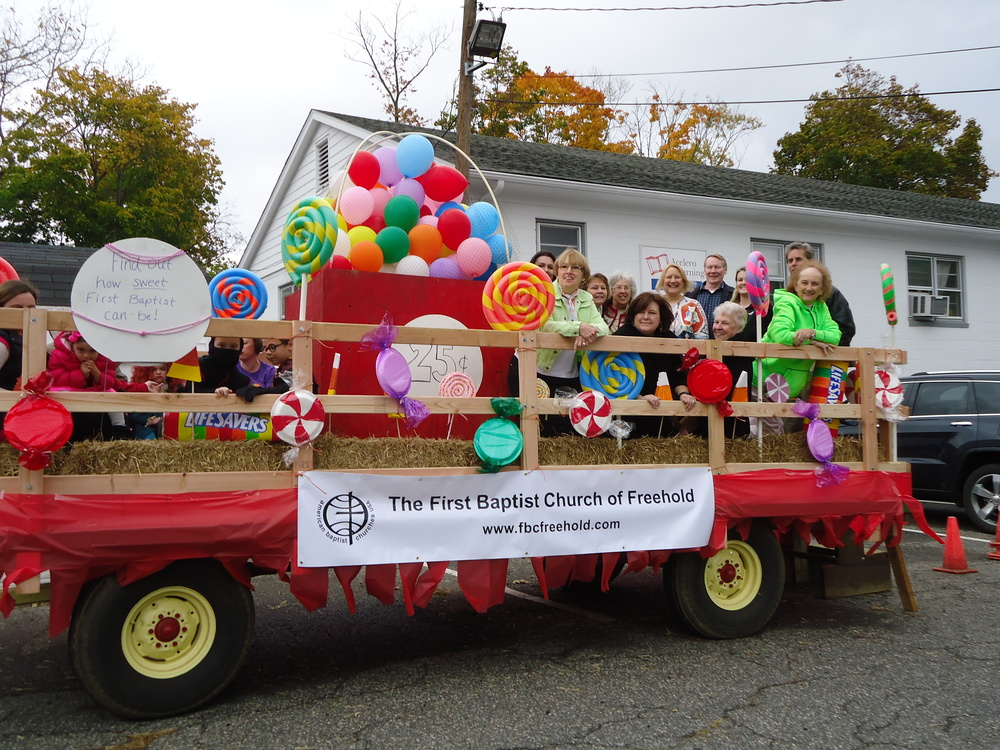 "Halloween Spooktacular Parade – 1st Place ""Find Out How Sweet First Baptist Can Be!"" October 25, 2015"