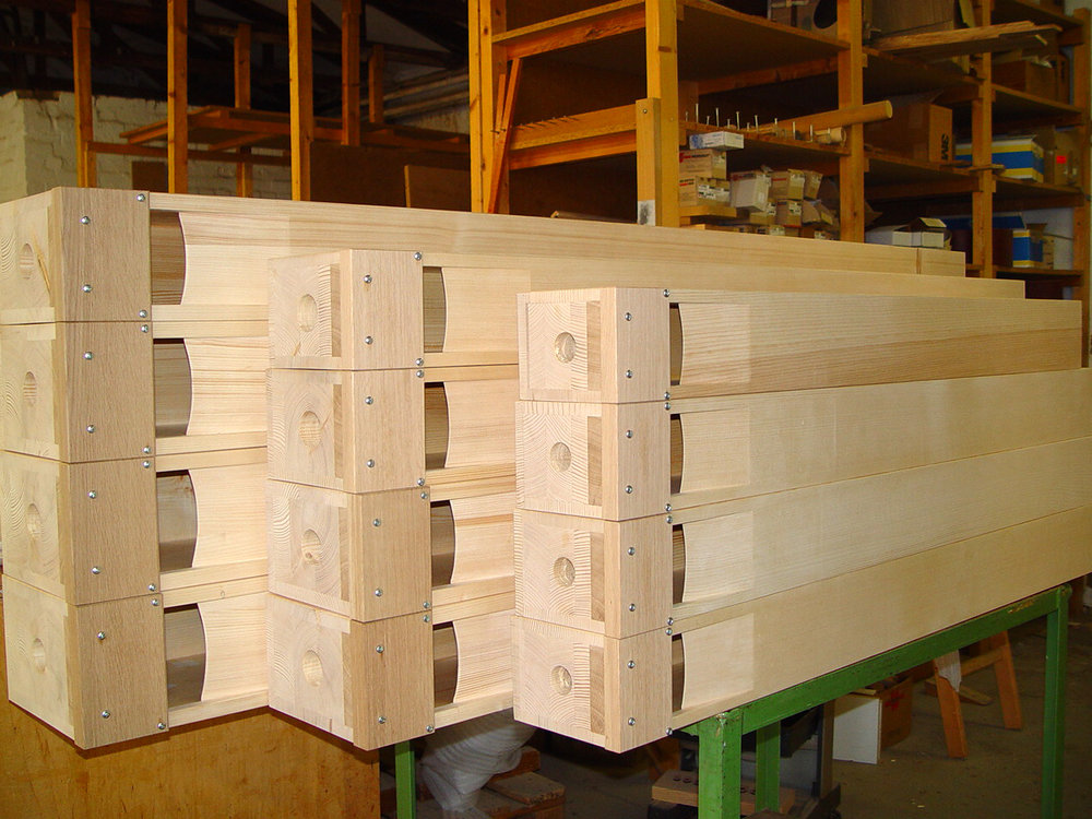 Fertige Holzpfeifen