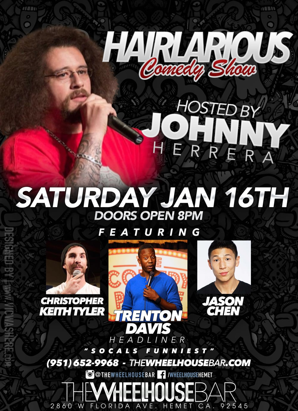 Saturday January 16th Johnny Herrera comedy show 2016