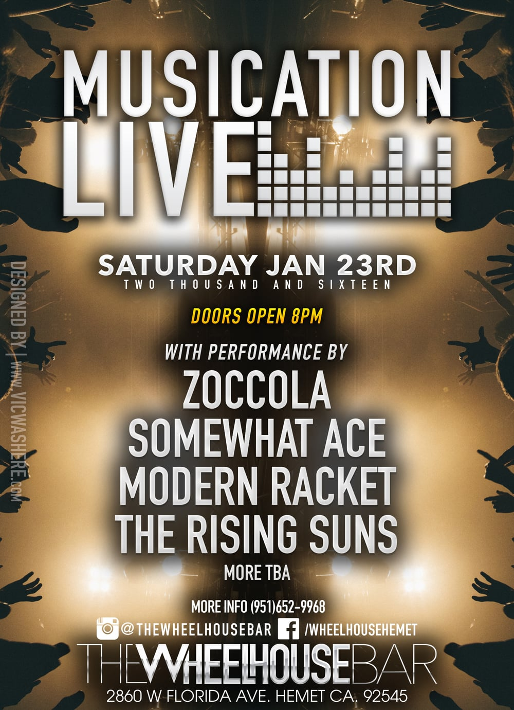 Musication Live Saturday 23rd 2016 at The Wheelhouse Bar Live Bands/Band