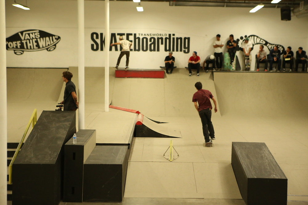 Kyle Branek_Frontside 50-50_while Isaak Abundis scouts his line.JPG