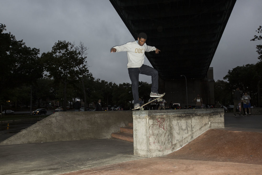 More skaters came out of the woodwork for the Best Trick Jam. Frontside Nosegrind.