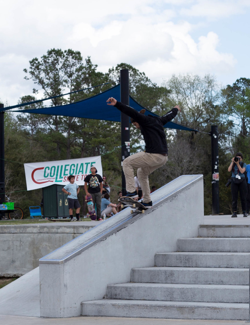 Carlos Merida has a solid frontside 5-0.