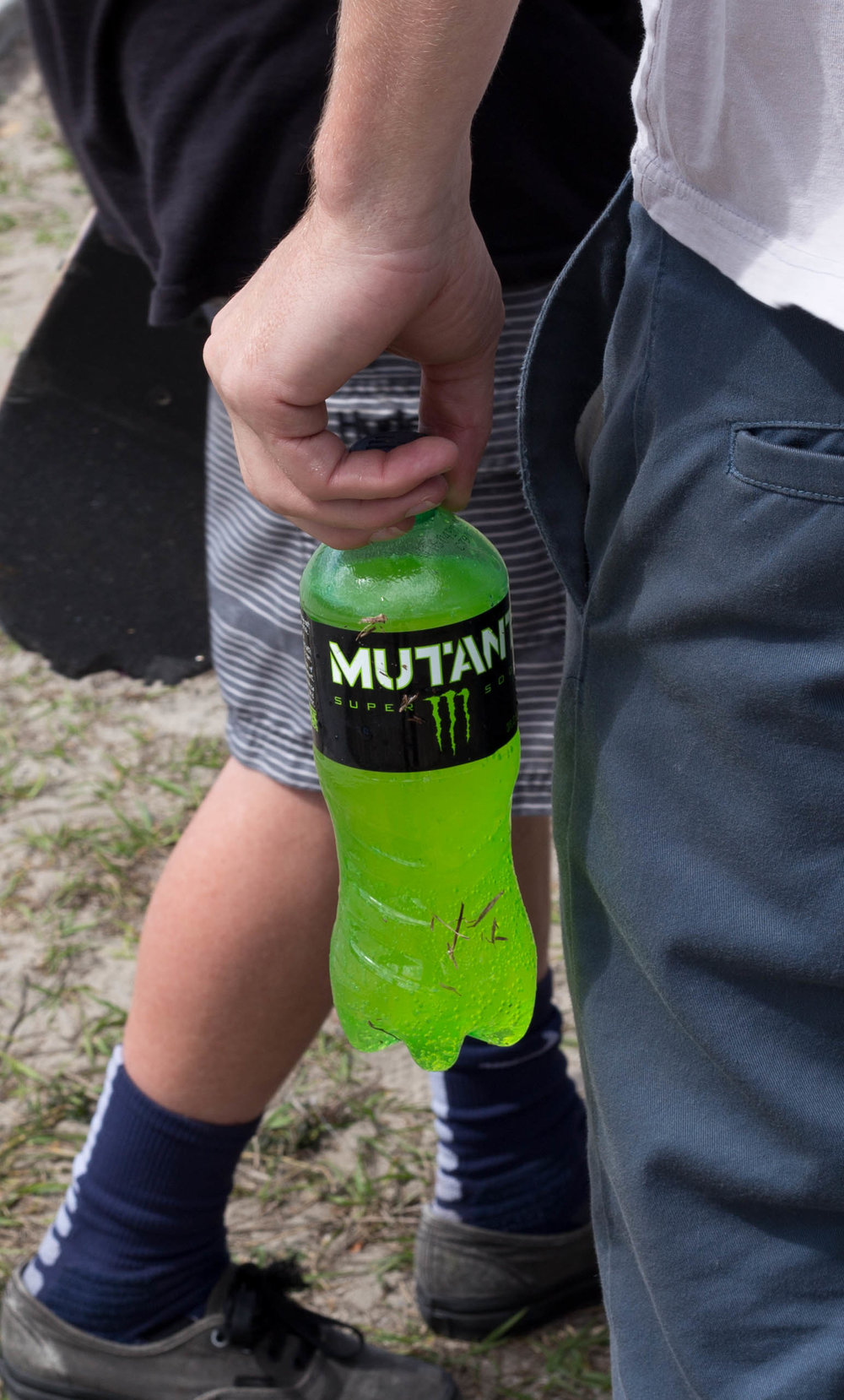 Almost everyone was repping Monster's new Mutant Super Soda!