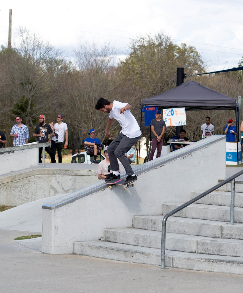 Landy nailed this frontside tailslide to fakie!